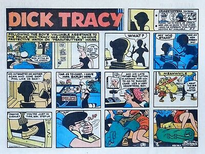 Dick Tracy by Chester Gould - large half-page color Sunday comic - July 30, 1972
