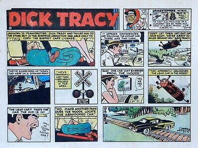 Dick Tracy by Chester Gould - large half-page color Sunday comic - Aug. 6, 1972