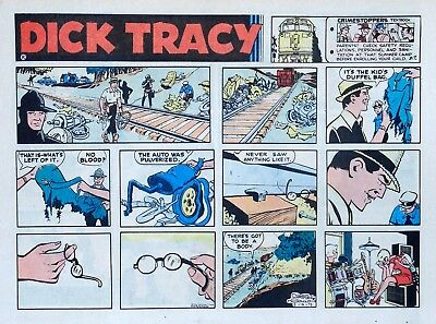 Dick Tracy by Chester Gould - large half-page color Sunday comic - Aug. 13, 1972