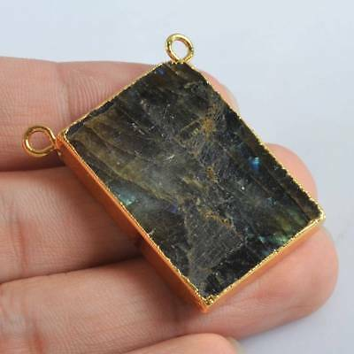 Natural Labradorite Connector Gold Plated H120491