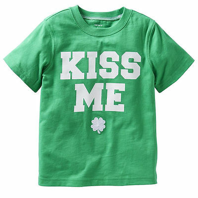 NWT ☀KISS ME☀ CARTERS Boys IRISH t-shirt ST PATRICKS DAY New SIZE 3T