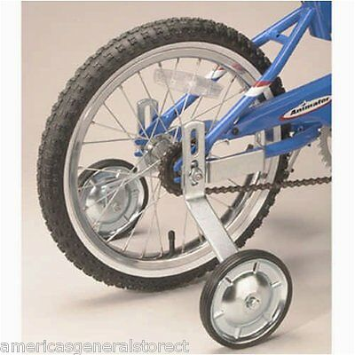 "Wald BICYCLE TRAINING WHEELS for most 12""-16"" bikes steel with tires up to 75 lb"