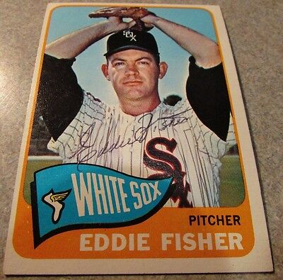 Eddie Fisher Signed Autographed 1965 Topps #328 - Chicago White Sox IL Illinois