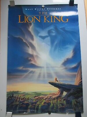 Vintage Disney Lion King Advance Poster 27X41 Very Rare 2-Sided 1994 Not Repro!