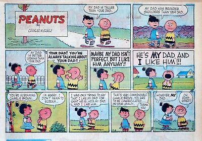 Peanuts by Charles Schulz - large half-page color Sunday comic - July 6, 1958