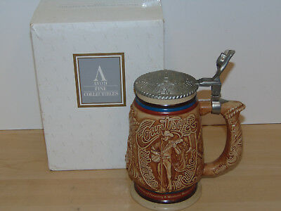 Avon Country & Western Music Ceramic Beer Stein w/Lid 1986-New in Open Box