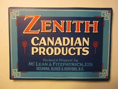 Wholesale Lot of 100 Old Vintage ZENITH Canadian Products - LABELS - B.C. Canada