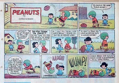 Peanuts by Charles Schulz - large half-page color Sunday comic - Sept. 21, 1958