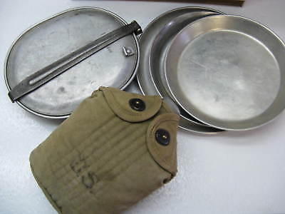 WWI 1918 US CANTEEN LF & C and 1917 L-D Inc Insulated Cover and 1917 Mess Kit