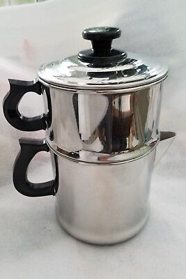 Vintage Lifetime Drip O Later 18-8 Stainless Steel Stovetop Coffee Pot Maker Lid