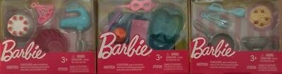 Barbie Doll Dream House Accessory 3 Pack BAKING Spa PASTA Set