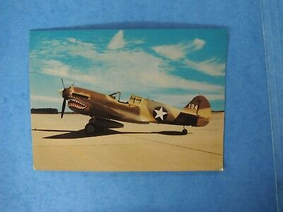 military postcard, Curtis P-40E Warhawk with 14th air force markings