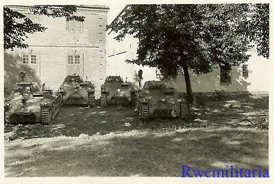 **BEST! German Pzkw.I Panzer Tank Platoon Parked in Shade Under Trees!!!**