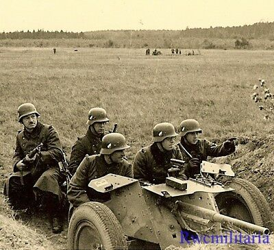 AMBUSH! Wehrmacht Panzerjägers in Field w/ Dug In PAK 36 3.7cm Gun at Ready!!!