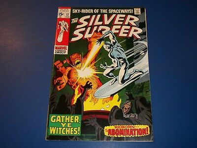Silver Surfer #12 Silver Age VF/VF+ Beauty Wow Abomination