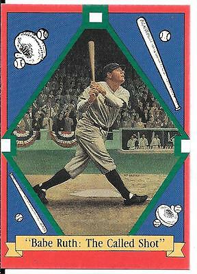 """Babe Ruth: """"the Called Shot"""" 1992 Card Advertising Plate Series"""