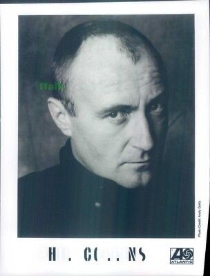 Press Photo: PHIL COLLINS 8x10 B&W Genesis