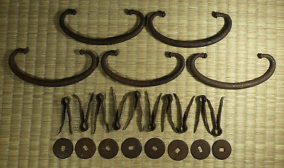Iron Drawer Pull / Set of 5 / Japanese Tansu / Antique