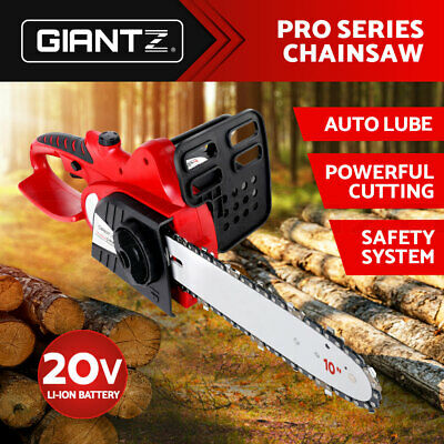 "Giantz 20V Cordless Chainsaw Lithium-Ion Chargeable Electric Pruner 10""  Garden"