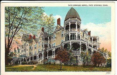 1920's The Tate Springs Hotel near Morristown, TN Tennessee PC