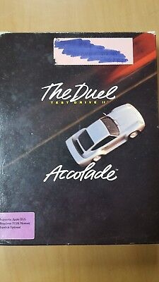 The Duel Test Drive II by Accolade 1989 Apple IIGS 3.5 Disk With Box & Manual