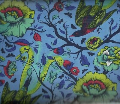 Tula Pink Tail Feathers lupine birds flowers Free Spirit fabric
