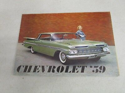 Vintage DEALERSHIP BROCHURE  *CHEVROLET '59*