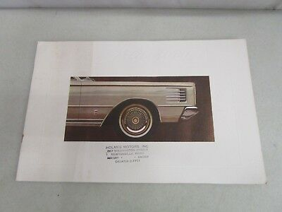 Vintage DEALERSHIP BROCHURE  *1965 MERCURY*