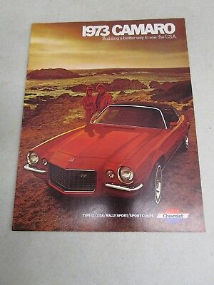 Vintage DEALERSHIP BROCHURE  *1973 CHEVY CAMARO*