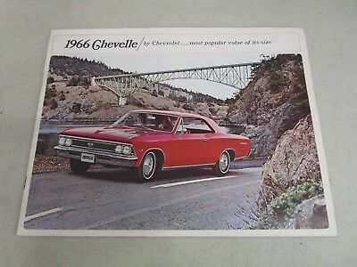 Vintage DEALERSHIP BROCHURE  *1966 CHEVELLE*