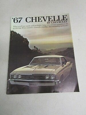 Vintage DEALERSHIP BROCHURE  *'67 CHEVELLE BY CHEVROLET*