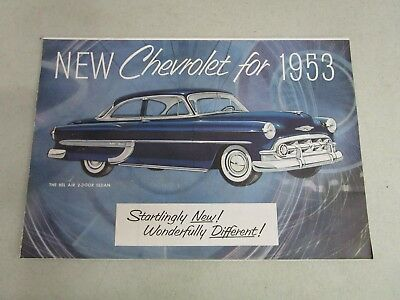 Vintage DEALERSHIP BROCHURE  *NEW CHEVROLET FOR 1953*