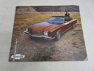 Vintage DEALERSHIP BROCHURE  *1971 CHEVY MONTE CARLO COUPE/SS*