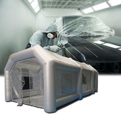 Inflatable Car Paint Spray Booth Tent For Painting W/ Filter Blower 26x13x10 Ft.