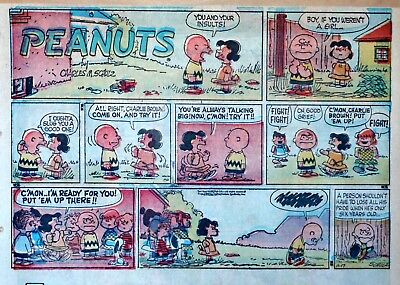 Peanuts by Charles Schulz - large half-page Sunday color comic - Nov. 17, 1957