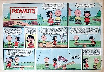 Peanuts by Charles Schulz - large half-page Sunday color comic - Dec. 27, 1959