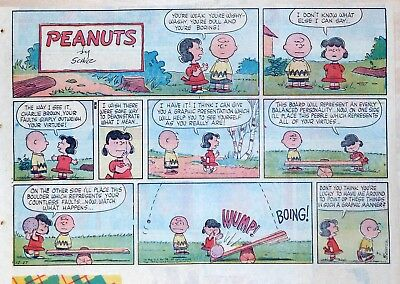 Peanuts by Charles Schulz - large half-page color Sunday comic - Dec. 27, 1959