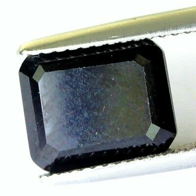 #3.69 cts. 10.2 x 8.3 mm.UNHEATED NATURAL BLACK ONYX OCTAGON INDIA