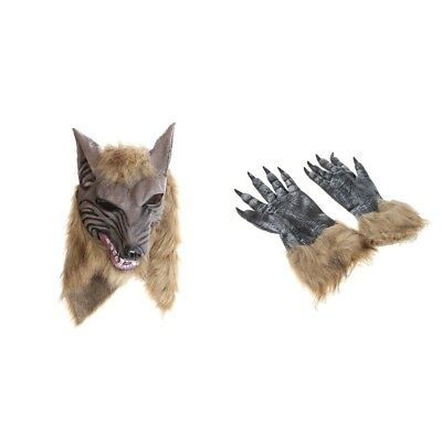 Wolf Full Face Head Mask Halloween Carnival Fancy Party Cosplay Costume Prop