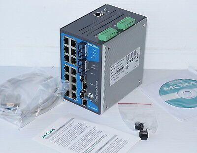 Moxa EDS-518A-SS-SC 14-Port Managed Gigabit Switch *NEW*