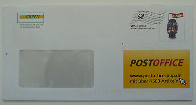 Deutsche Post POSTOFFICE Brief DIALOGPOST Wellenstempel GOGREEN codiert
