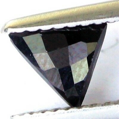 #0.70 cts. 6.2 x 5.9 mm.UNHEATED NATURAL BLACK ONYX TRIANGLE INDIA
