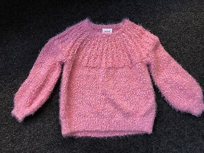 Girls Seed Fluffy Sweater Size 4