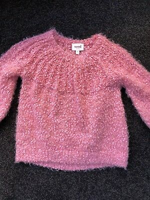 Girls Seed Fluffy Sweater Size 2