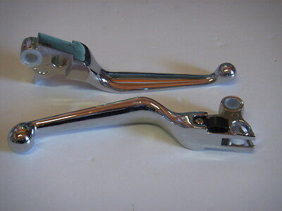 Chrome Brake & Clutch levers Harley-Davidson 1996-2007 with Cable Clutch 111436