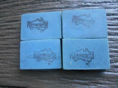 lot 4 vintage old Kenworth Australian made pencil rubber rubbers Australia map
