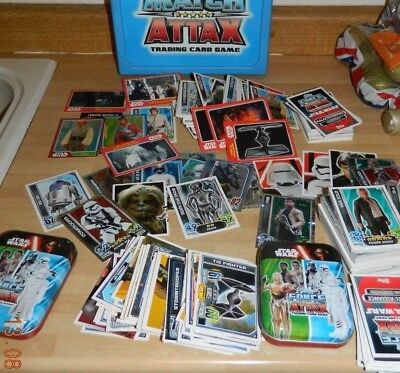 Star Wars - Massive Job Lot Of Topps Trading Cards - 2 Tins - Box - 2 Books And