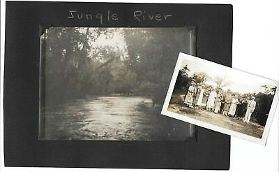 VINTAGE  PHOTOS LOt  Of 13 * JUNGLE RIVER * ARTISTIC * LOVELY LOT 1930s *