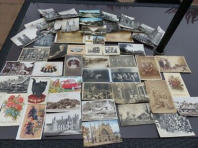 Job Lot of Antique Photographs and Photograph Postcards