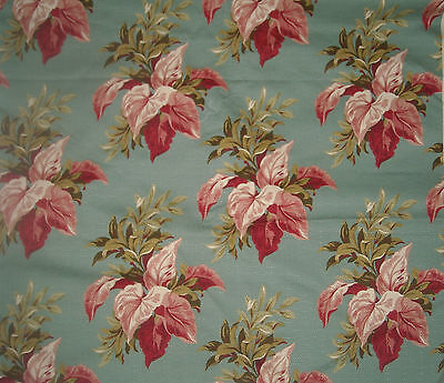 WOW New Gorgeous 3 YDS + Barkcloth type BAHAMA BREEZE cotton fabric